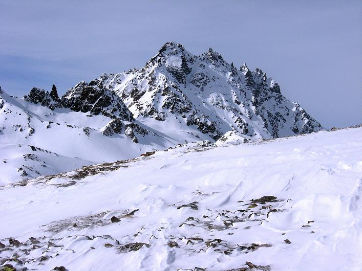 Foto: Andreas Koller / Ski Tour / Piz Tasna (3179m) und Piz Davo Lais (3027m) - Dreitausender über Scuol / Von der Fuorcla Davo Lais Dieu Blick auf das Fluchthorn (3399 m) / 15.03.2009 18:14:09