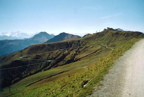 Foto: hofchri / Mountainbike Tour / Steinbergkogel (1972 m) über Hahnenkamm (1650 m) / Straße zum Pengelstein / 18.03.2009 19:48:46