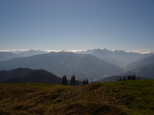 Foto: hofchri / Mountainbike Tour / Hochgründeck (1827 m) von St. Johann / Panorma vom Gipfel / 19.03.2009 21:54:23