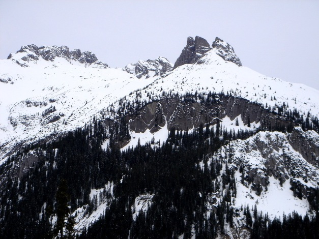 Foto: Manfred Karl / Ski Tour / Auf der Mutte (2187m) / Wolfebnerspitze - Kletterberg mit vielen schönen Routen / 26.03.2009 20:29:35