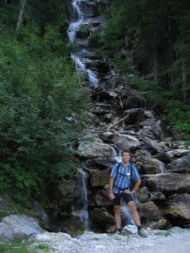 Foto: hofchri / Mountainbike Tour / Giglachseen (1986 m) über Ursprungalm / Wasserfall bei der Auffahrt zur Urspungalm / 02.04.2009 20:48:52