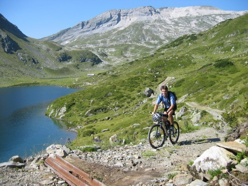 Foto: hofchri / Mountainbike Tour / Giglachseen (1986 m) über Ursprungalm / Balance notwendig! / 02.04.2009 20:51:57