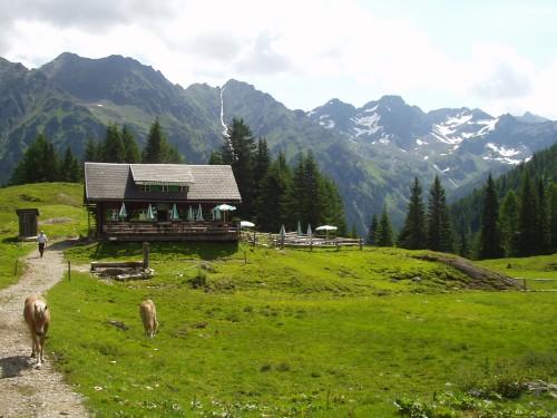 Foto: hofchri / Mountainbike Tour / Duisitzkarsee (1684 m) über Obertal / die bewirtschaftete Duisitzkarseehütte / 02.04.2009 22:51:23