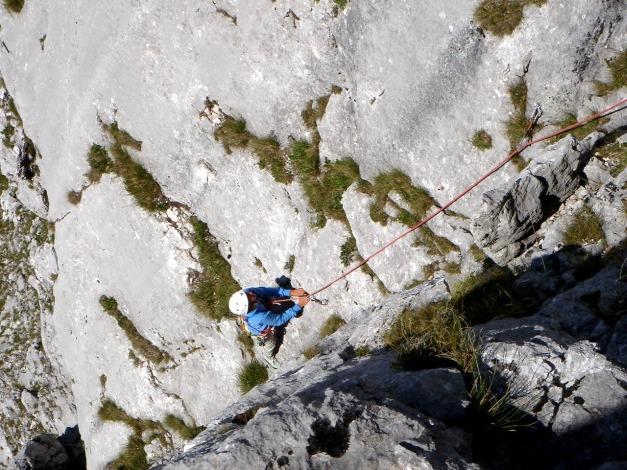 Foto: Manfred Karl / Kletter Tour / Überschreitung der Adlerspitze / V-Riss / 07.04.2009 21:34:51