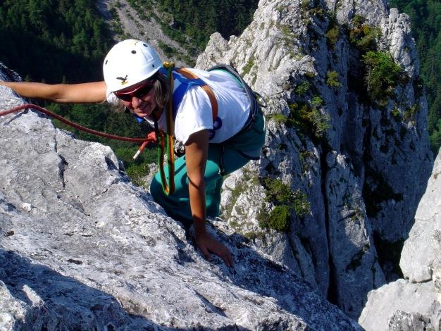 Foto: Manfred Karl / Kletter Tour / Überschreitung der Adlerspitze / Gipfelplatte / 07.04.2009 21:34:19
