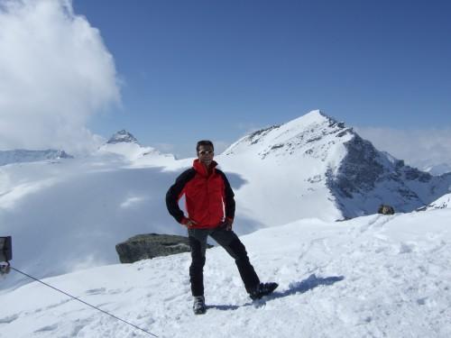 Foto: hofchri / Ski Tour / Hohe Fürleg (2943m),  Stubacher Sonnblick (3088m) und Granatspitze (3086m) vom Enzingerboden / am Hohen Fürleg (2943 m) - Granatspitze und Sonnblick im Hintergrund / 08.04.2009 21:03:45