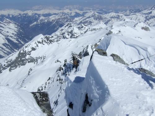 Foto: hofchri / Ski Tour / Hohe Fürleg (2943m),  Stubacher Sonnblick (3088m) und Granatspitze (3086m) vom Enzingerboden / Am Stubacher Sonnblick (3088 m) / 08.04.2009 21:06:18