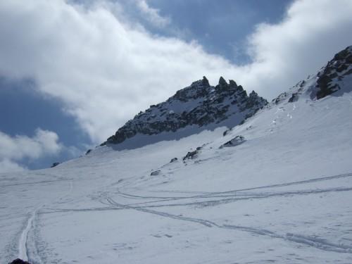 Foto: hofchri / Ski Tour / Hohe Fürleg (2943m),  Stubacher Sonnblick (3088m) und Granatspitze (3086m) vom Enzingerboden / vor uns die Granatspitze / 08.04.2009 21:07:37