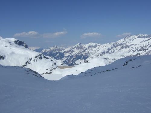 Foto: hofchri / Ski Tour / Hohe Fürleg (2943m),  Stubacher Sonnblick (3088m) und Granatspitze (3086m) vom Enzingerboden / Blick ins Tal zur Rudolfshütte / 08.04.2009 21:11:34