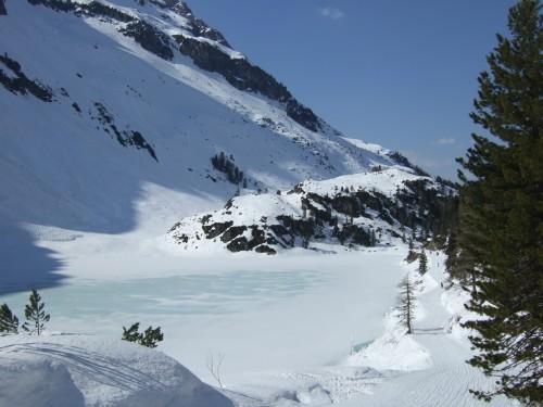 Foto: hofchri / Ski Tour / Hohe Fürleg (2943m),  Stubacher Sonnblick (3088m) und Granatspitze (3086m) vom Enzingerboden / Abfahrt am Grünsee vorbei / 08.04.2009 21:12:13
