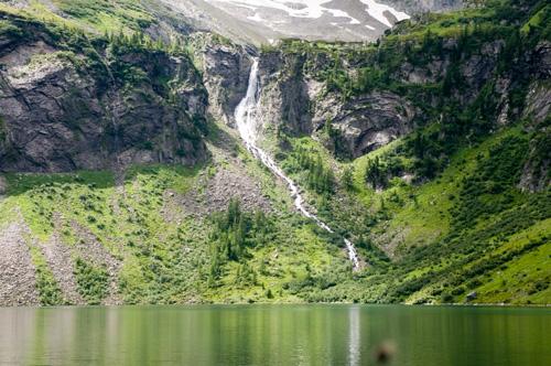 Foto: Samson / Wander Tour / Vom Arsenhaus zum Rotgüldensee / Wasserfall zwischen Oberen und Unteren Rotgüldensee / 27.07.2009 08:54:39