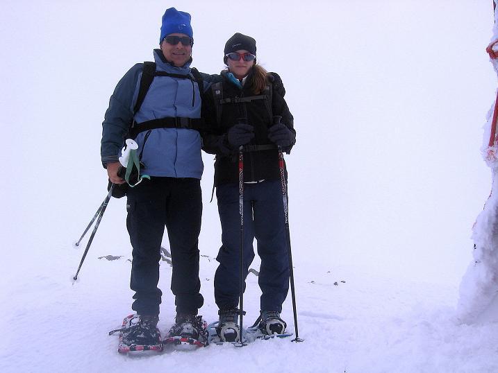 Foto: Andreas Koller / Schneeschuh Tour / Panorama-Schneeschuhtour auf die Gobba di Rollin (3899 m) / Bei Südföhn auf der Gobba di Rollin / 15.04.2009 23:49:40