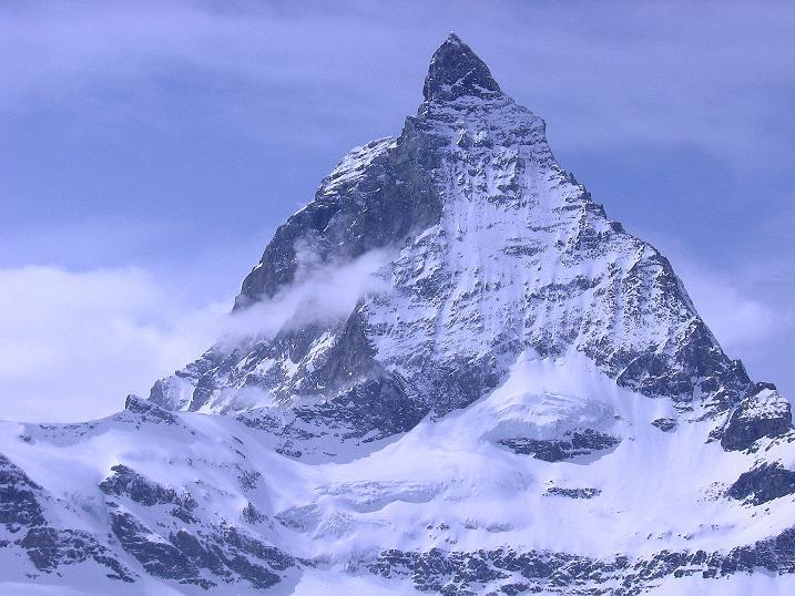Foto: Andreas Koller / Schneeschuh Tour / Panorama-Schneeschuhtour auf die Gobba di Rollin (3899 m) / Alles überragend: das Matterhorn (4478 m) / 15.04.2009 23:45:55