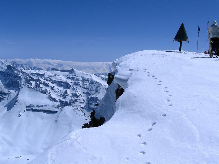 Foto: Andreas Koller / Ski Tour / Hoch über dem Gemmipass aufs Steghorn (3146m) / 16.04.2009 02:47:57