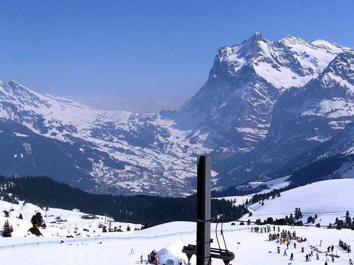 Foto: Andreas Koller / Ski Tour / Berner Alpen Durchquerung 1: Louwihorn (3777m) / Das Wetterhorn (3701 m) über Grindelwald / 16.04.2009 23:02:38