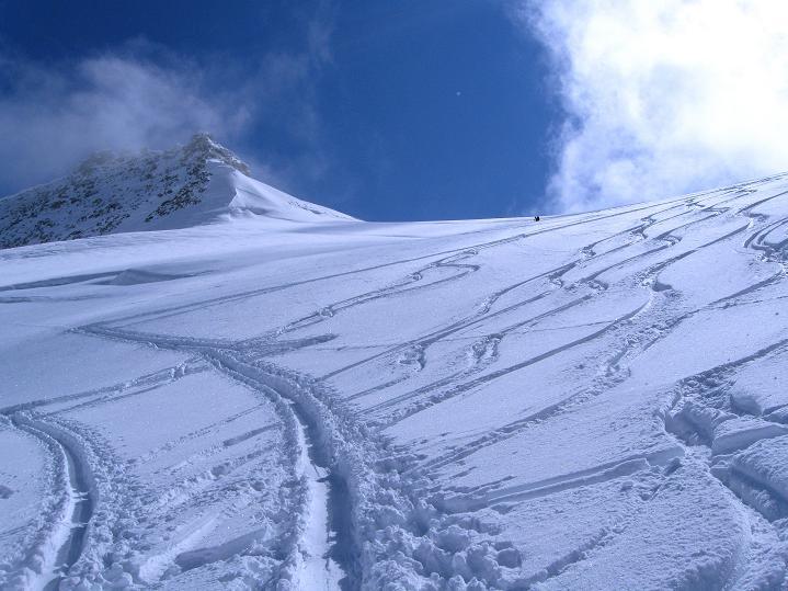 Foto: Andreas Koller / Ski Tour / Berner Alpen Durchquerung 1: Louwihorn (3777m) / 16.04.2009 22:53:50