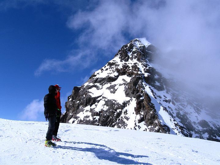 Foto: Andreas Koller / Ski Tour / Berner Alpen Durchquerung 1: Louwihorn (3777m) / 16.04.2009 22:49:52