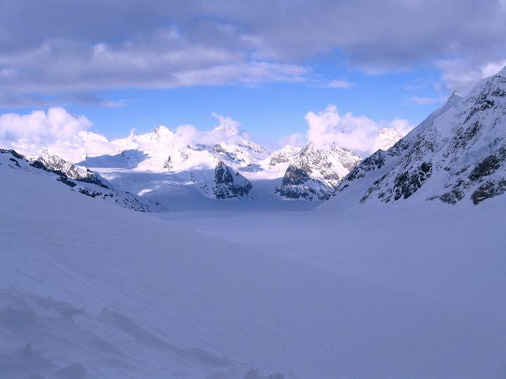 Foto: Andreas Koller / Ski Tour / Berner Alpen Durchquerung 1: Louwihorn (3777m) / 16.04.2009 22:42:56