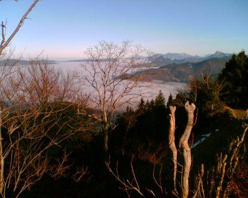 Foto: hofchri / Mountainbike Tour / Gaisberg (1287 m) über Glasenbachklamm / Aussicht vom Gaisberg / 19.04.2009 09:23:27