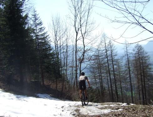 Foto: hofchri / Mountainbike Tour / Gaisberg (1287 m) über Glasenbachklamm / Trail über die Piste / 19.04.2009 09:26:44