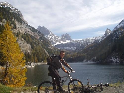 Foto: hofchri / Mountainbike Tour / Rund um den Hochkranz über Kallbrunnalm (1495m) / Am Dießbachstausee / 27.04.2009 22:17:45