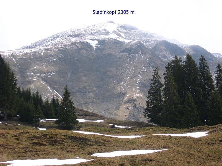 Foto: Andreas Koller / Wander Tour / Über die Karalm auf den Sladinkopf (2305 m) / 04.05.2009 17:34:30