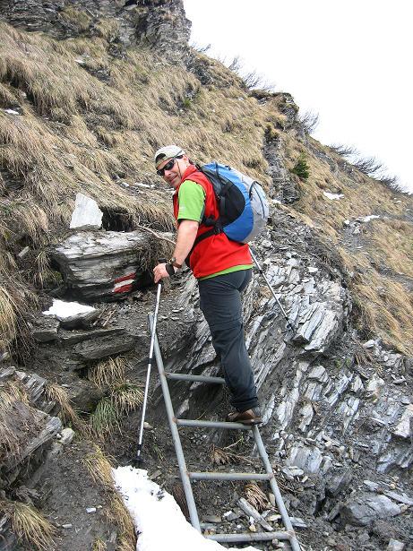Foto: Andreas Koller / Wander Tour / Über die Karalm auf den Sladinkopf (2305 m) / Kurze Leiter / 04.05.2009 17:33:48