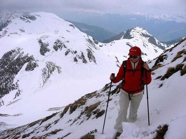 Foto: Andreas Koller / Wander Tour / Über die Karalm auf den Sladinkopf (2305 m) / In der SW-Flanke / 04.05.2009 17:31:02
