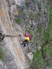 Foto: Kurt Schall / Klettersteig Tour / Pursteinwand-Klettersteig / 11.05.2009 19:01:51