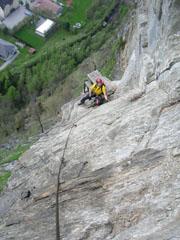 Foto: Kurt Schall / Klettersteig Tour / Pursteinwand-Klettersteig / 11.05.2009 19:02:00