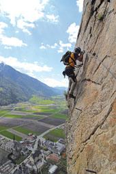 Foto: Kurt Schall / Klettersteig Tour / Pursteinwand-Klettersteig / 11.05.2009 19:02:15