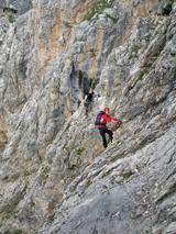 Foto: Kurt Schall / Klettersteig Tour / Via ferrata da Lec (Boèseekofelsteig) / 11.05.2009 19:19:13