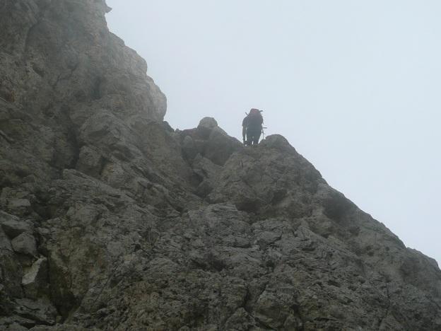 Foto: Manfred Karl / Klettersteig Tour / Via ferrata Masarè auf die Rotwand / Im Anfangsteil des Steiges / 12.05.2009 19:24:06