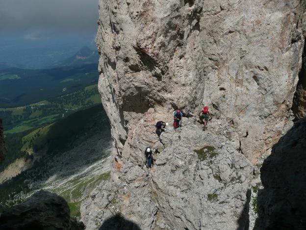 Foto: Manfred Karl / Klettersteig Tour / Via ferrata Masarè auf die Rotwand / 12.05.2009 19:22:41