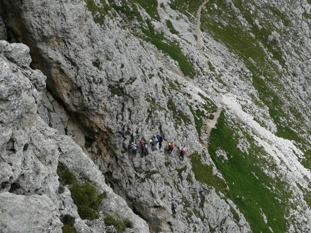 Foto: Manfred Karl / Klettersteig Tour / Via ferrata Masarè auf die Rotwand / Staugefahr! / 12.05.2009 19:18:09