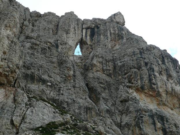 Foto: Manfred Karl / Klettersteig Tour / Via ferrata Masarè auf die Rotwand / Fensterleturm / 12.05.2009 19:16:50