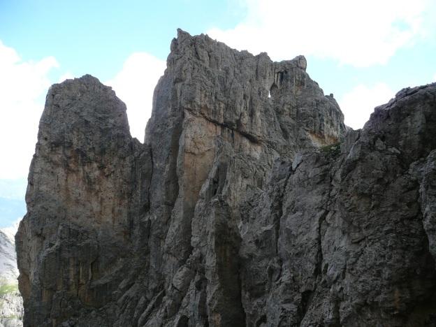 Foto: Manfred Karl / Klettersteig Tour / Via ferrata Masarè auf die Rotwand / Fensterleturm / 12.05.2009 19:15:48
