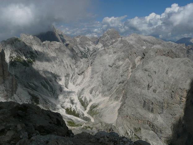 Foto: Manfred Karl / Klettersteig Tour / Via ferrata Masarè auf die Rotwand / Blick zum Kesselkogel / 12.05.2009 19:13:55