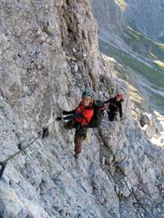 Foto: Kurt Schall / Klettersteig Tour / Via ferrata Bolver-Lugli / 12.05.2009 08:21:20