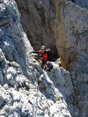 Foto: Kurt Schall / Klettersteig Tour / Via ferrata Bolver-Lugli / 12.05.2009 08:21:29