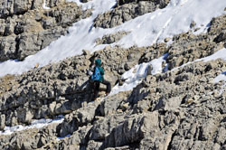 Foto: Kurt Schall / Klettersteig Tour / Via ferrata Tofana di Dentro / 12.05.2009 08:56:40