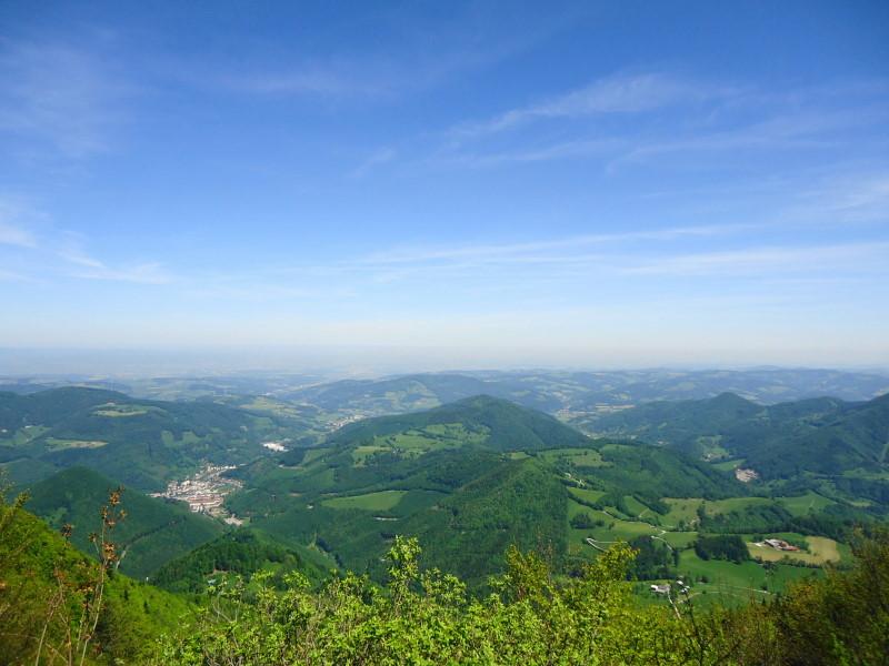 Foto: Günter Siegl / Wander Tour / Muckenkogel (1.248 m) und Hinteralm (1.313 m) / Herrlicher Blick auf Lilienfeld, Traisen und im Hintergrund St. Pölten / 29.05.2014 08:48:17