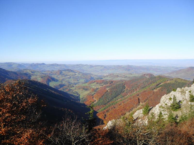 Foto: Günter Siegl / Wander Tour / Hohenstein (1.195 m) / NW- Blick / 20.11.2015 21:23:53