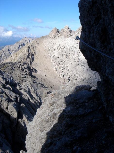 Foto: Manfred Karl / Klettersteig Tour / Seekofel Klettersteig / Blick zu den Leitmeritzspitzen / 14.05.2009 23:10:45