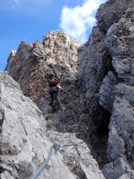 Foto: Manfred Karl / Klettersteig Tour / Seekofel Klettersteig / Der Fels ist nicht immer zuverlässig / 14.05.2009 22:50:22