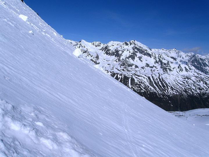 Foto: Andreas Koller / Ski Tour / Rassige Frühjahrstour auf die Schermerspitze (3117 m) / Querung in abschüssiger Flanke / 19.05.2009 01:53:13