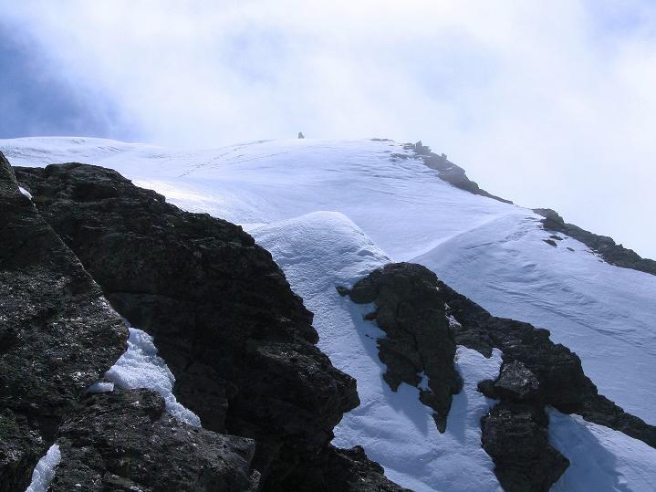 Foto: Andreas Koller / Ski Tour / Rassige Frühjahrstour auf die Schermerspitze (3117 m) / Blick vom Grat zur Schermerspitze / 19.05.2009 01:49:04