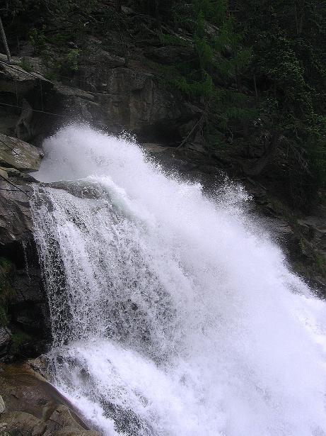 Foto: Andreas Koller / Klettersteig Tour / Stuibenfall Klettersteig (1460m) / Abbruchkante des Stuibenfalls / 25.05.2009 18:44:20