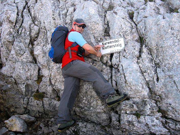 Foto: Andreas Koller / Klettersteig Tour / Karwendelspitze Klettersteig (2385m) / 27.05.2009 23:13:58