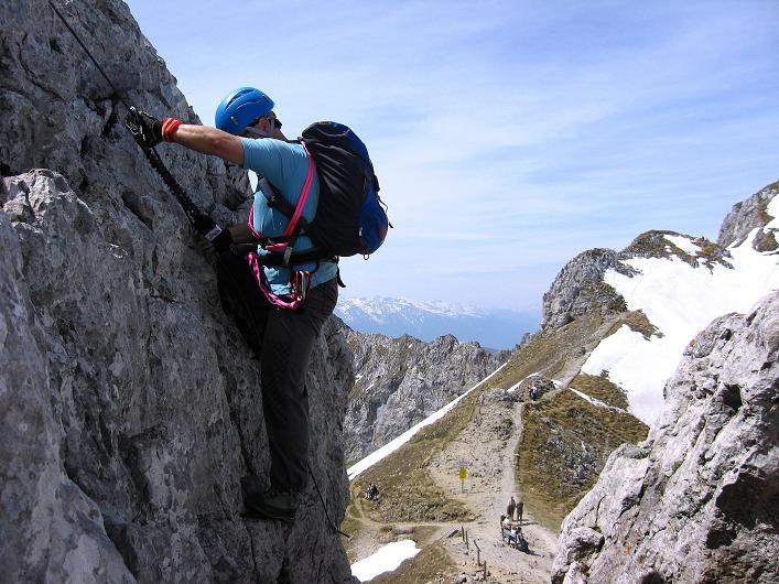 Foto: Andreas Koller / Klettersteig Tour / Karwendelspitze Klettersteig (2385m) / Der Einstieg / 27.05.2009 23:13:38